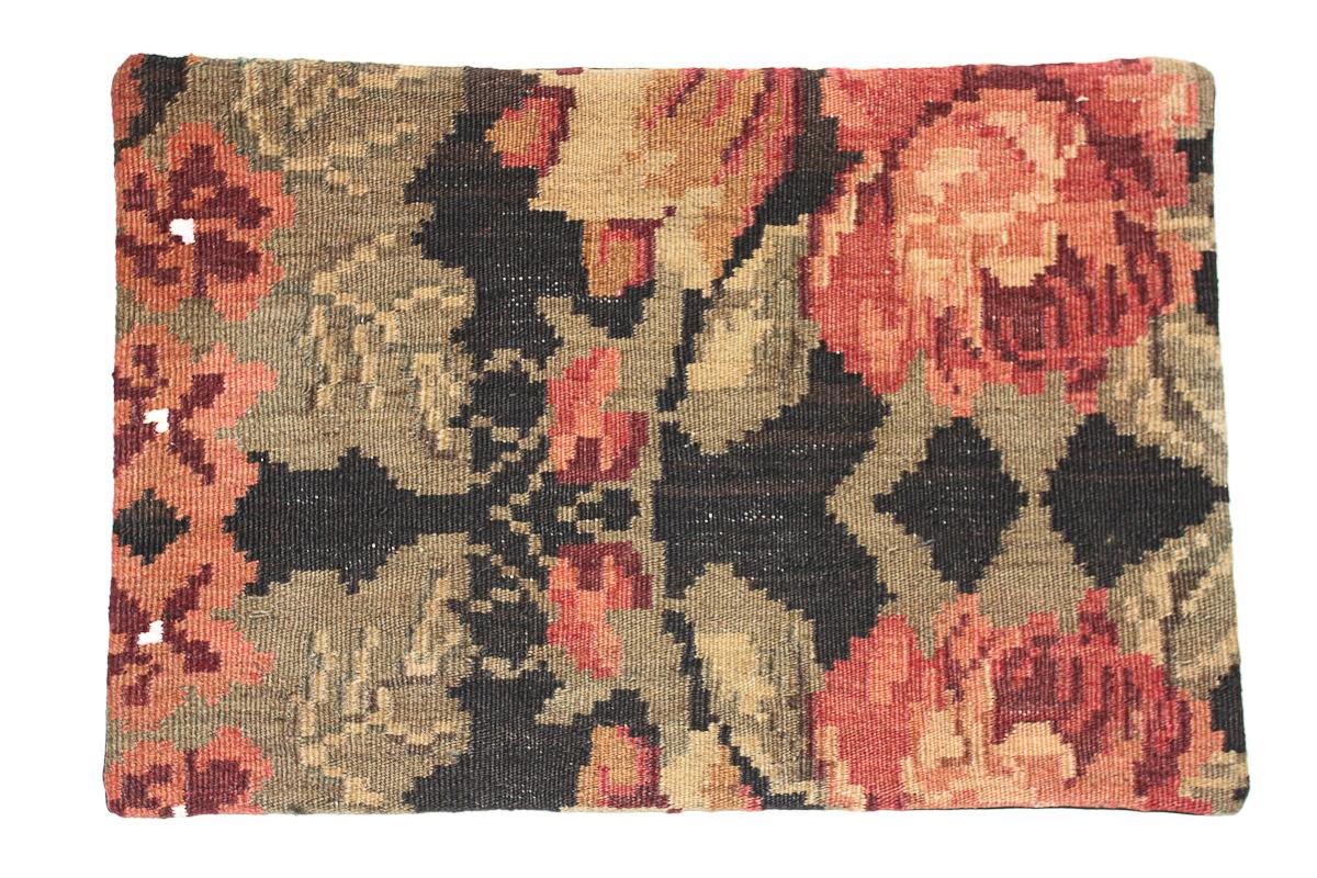 Rozenkelim kussen nr 1628 (60 cm x 40 cm) Kussen gemaakt van authentieke rozenkelim, inclusief binnenkussen