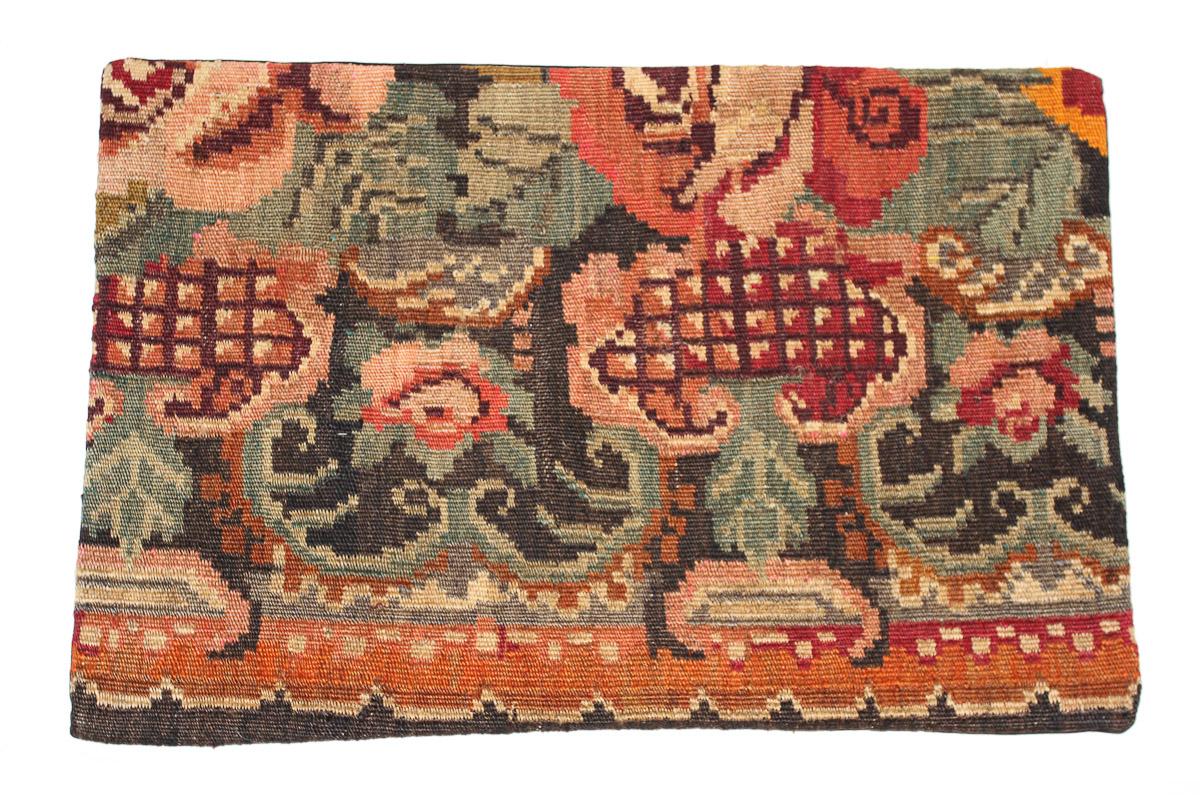 Rozenkelim kussen nr 1629 (60 cm x 40 cm) Kussen gemaakt van authentieke rozenkelim, inclusief binnenkussen