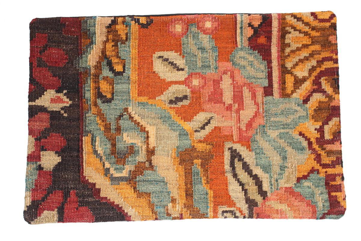 Rozenkelim kussen nr 1630 (60 cm x 40 cm) Kussen gemaakt van authentieke rozenkelim, inclusief binnenkussen