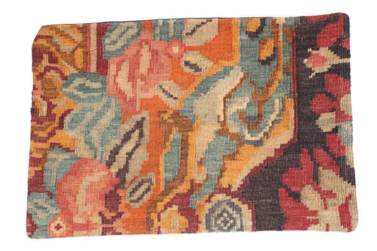 Rozenkelim kussen nr 1631 (60 cm x 40 cm) Kussen gemaakt van authentieke rozenkelim, inclusief binnenkussen