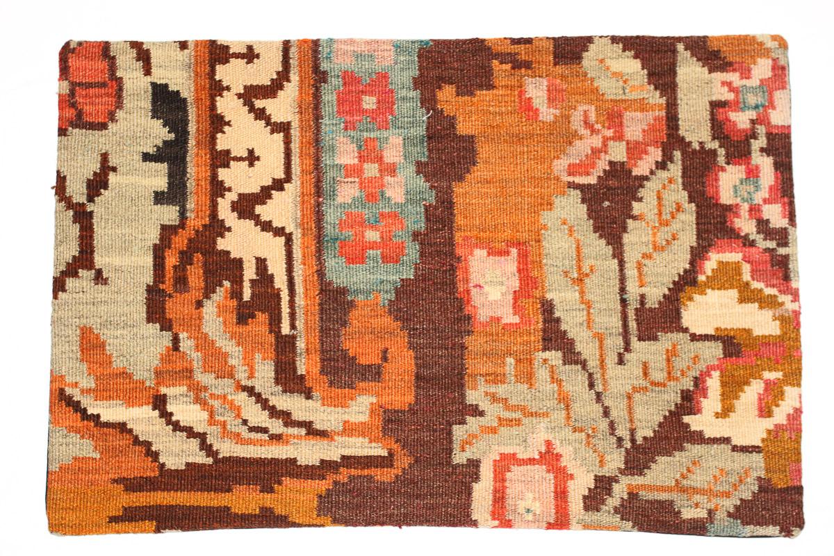 Rozenkelim kussen nr 1636  (60 cm x 40 cm) Kussen gemaakt van authentieke rozenkelim, inclusief binnenkussen