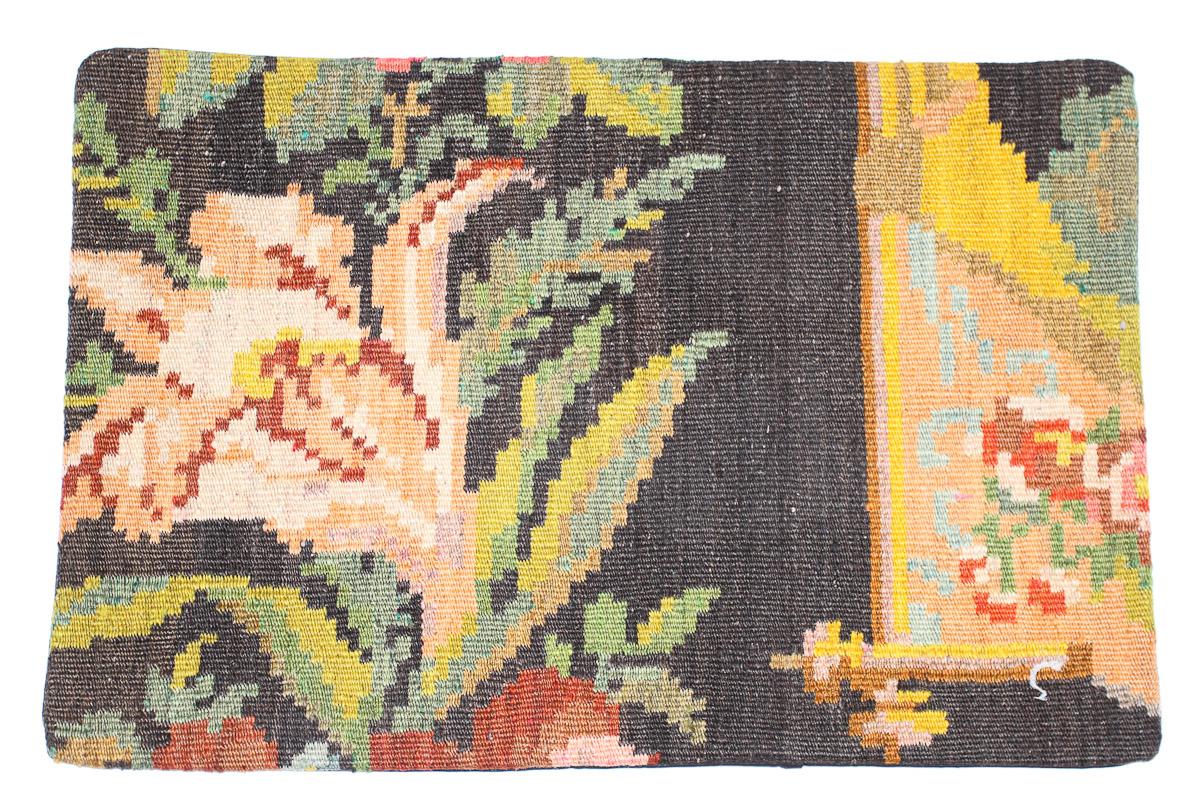 Rozenkelim kussen nr 1639  (60 cm x 40 cm) Kussen gemaakt van authentieke rozenkelim, inclusief binnenkussen