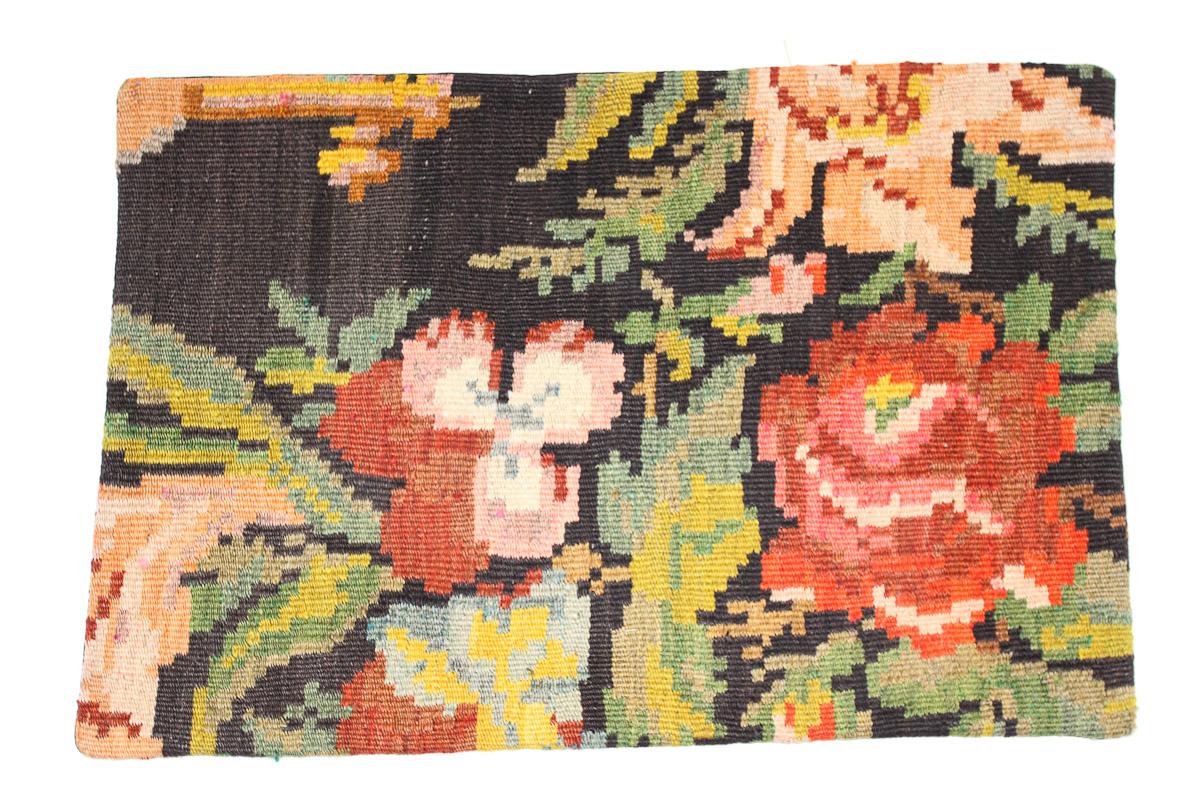 Rozenkelim kussen nr 1641  (60 cm x 40 cm) Kussen gemaakt van authentieke rozenkelim, inclusief binnenkussen