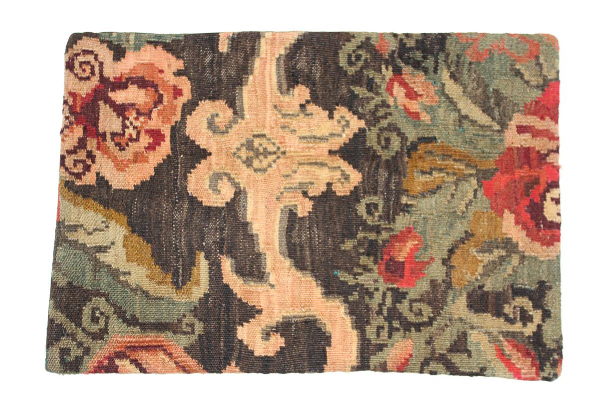 Rozenkelim kussen nr 1643 (60 cm x 40 cm) Kussen gemaakt van authentieke rozenkelim, inclusief binnenkussen