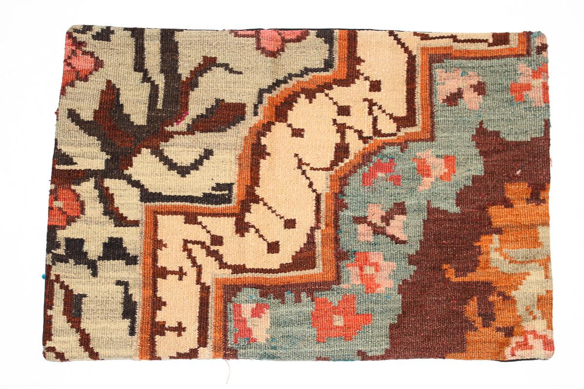 Rozenkelim kussen nr 1645 (60 cm x 40 cm) Kussen gemaakt van authentieke rozenkelim, inclusief binnenkussen