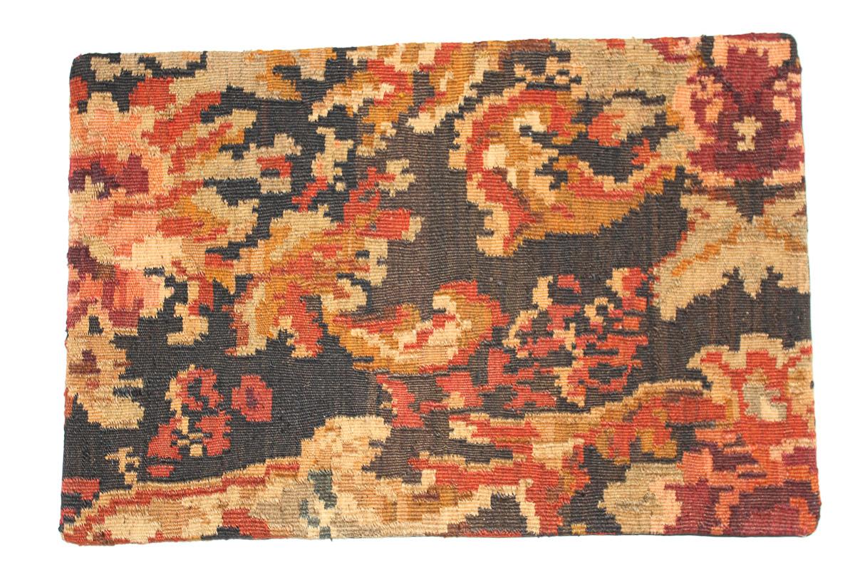 Rozenkelim kussen nr 1652 (60 cm x 40 cm) Kussen gemaakt van authentieke rozenkelim, inclusief binnenkussen