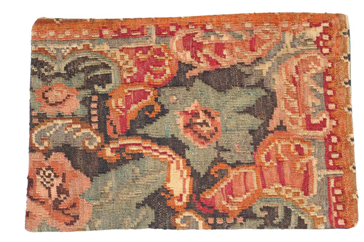 Rozenkelim kussen nr 1659 (60 cm x 40 cm) Kussen gemaakt van authentieke rozenkelim, inclusief binnenkussen