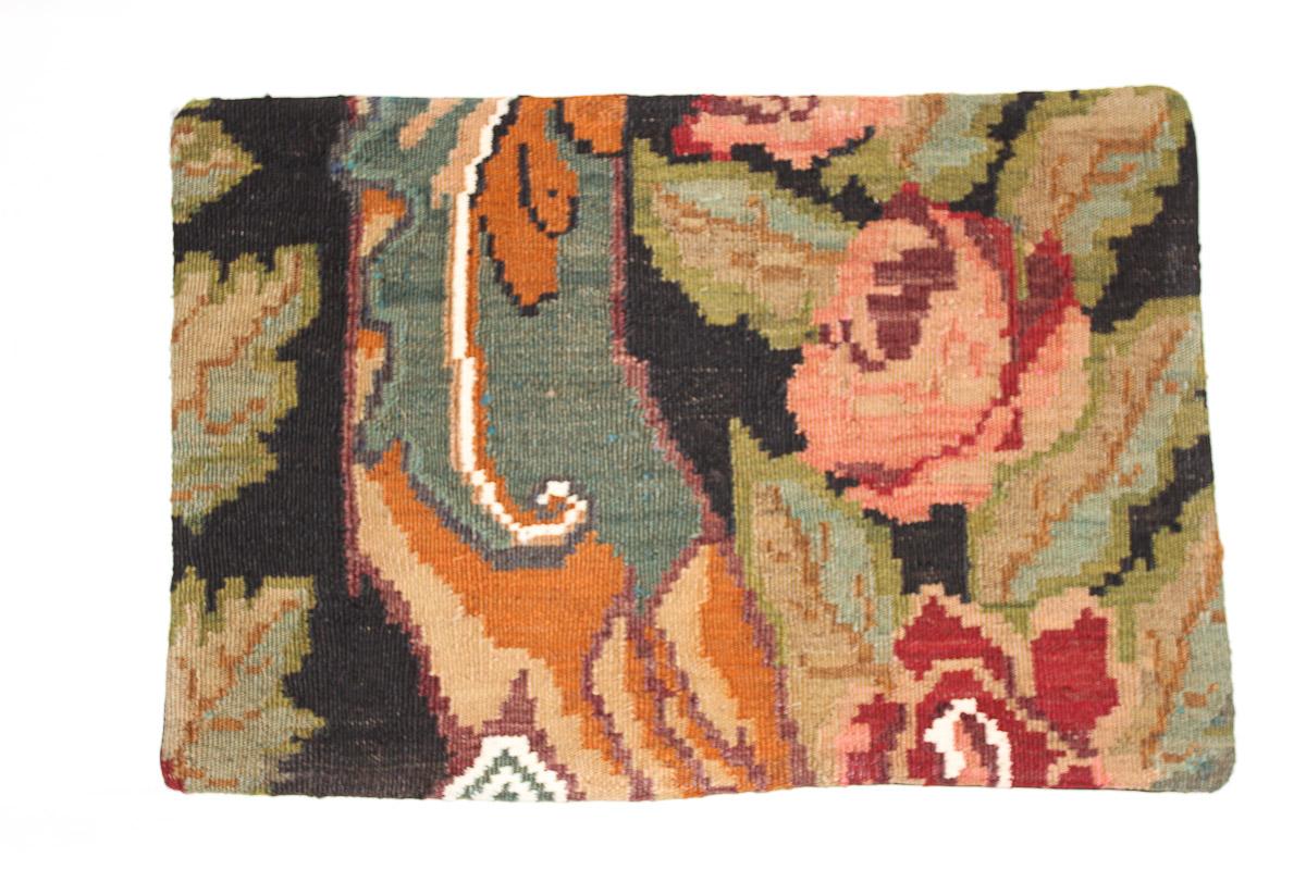 Rozenkelim kussen nr 1660 (60 cm x 40 cm) Kussen gemaakt van authentieke rozenkelim, inclusief binnenkussen