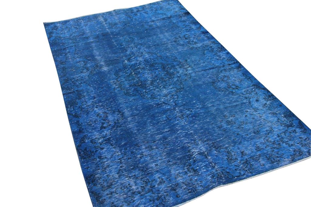 Vintage vloerkleed, marine blauw, 254cm x 152cm