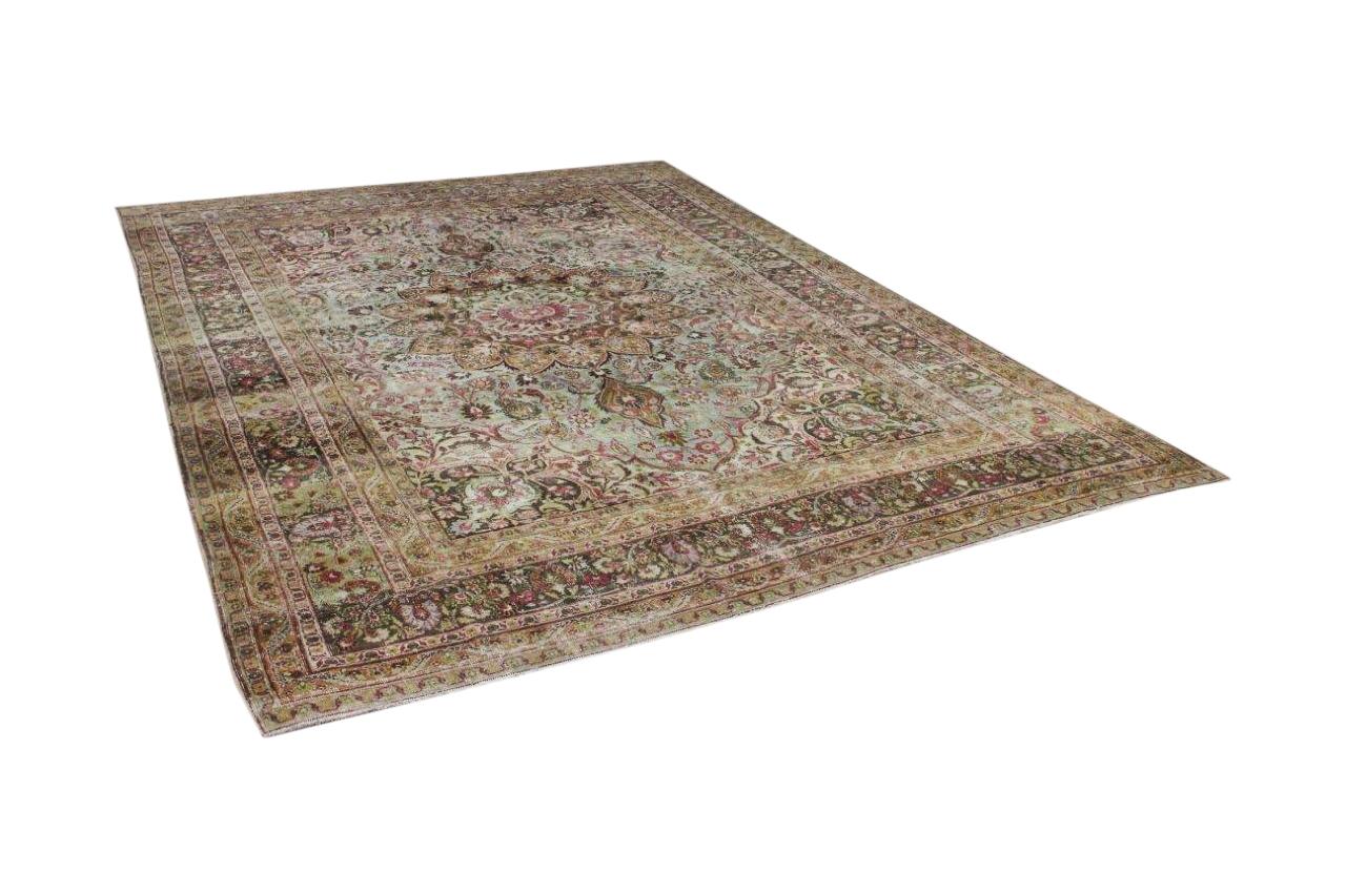 Antiek perzisch Meshed vloerkleed 365cm x 260cm