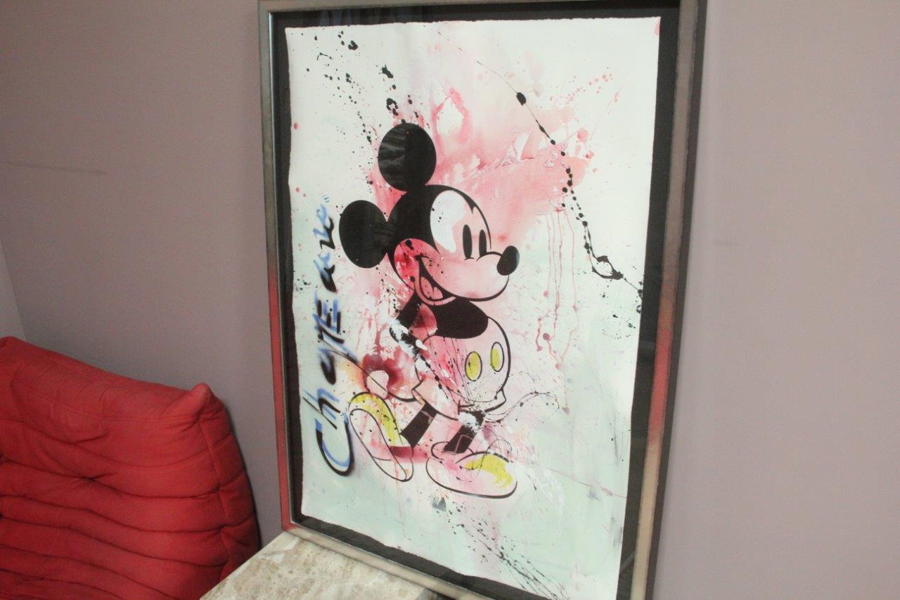 Zeefdruk Mickey Mouse (Chapeau) 118,5cm x 86cm