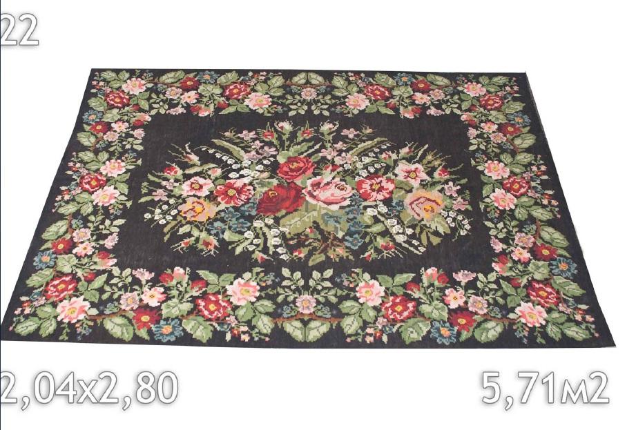 Bloemen vloerkleed 22 (280cm x 204cm)