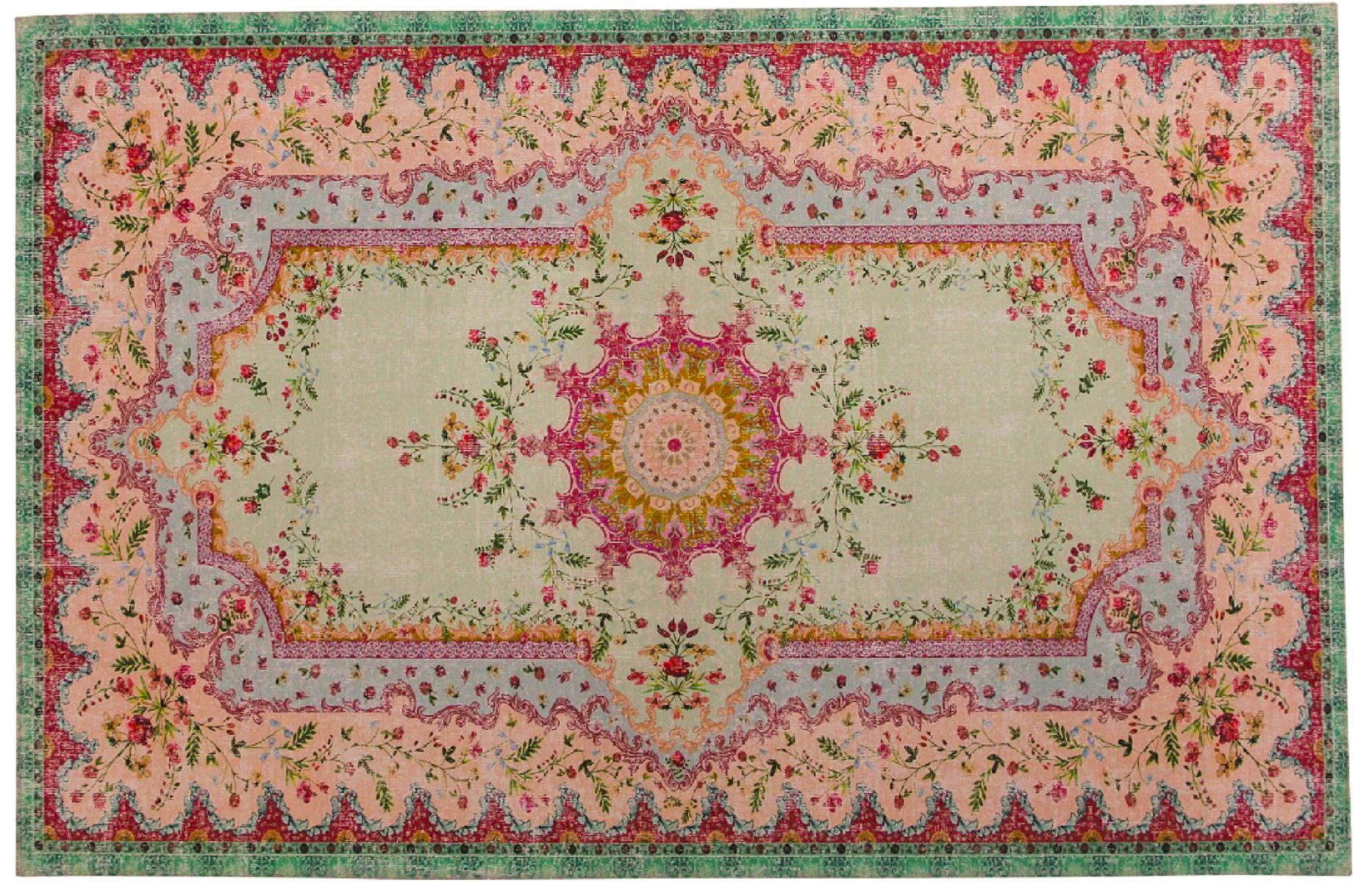 vloerkleed pastel kleuren rozenkelim