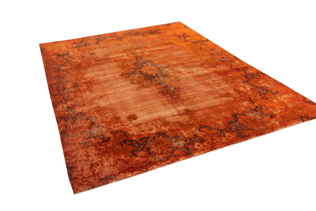 Oranje vintage vloerkleed 368cm x 276cm  (nr50714)