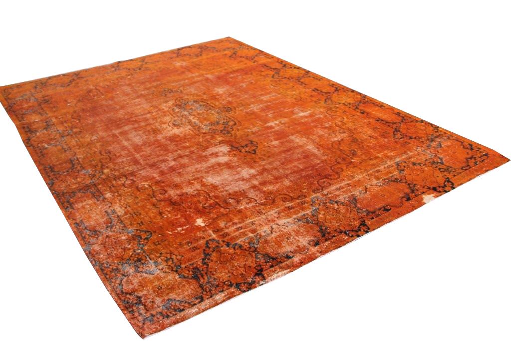 Oranje vintage vloerkleed 396cm x 285cm  (nr52437)