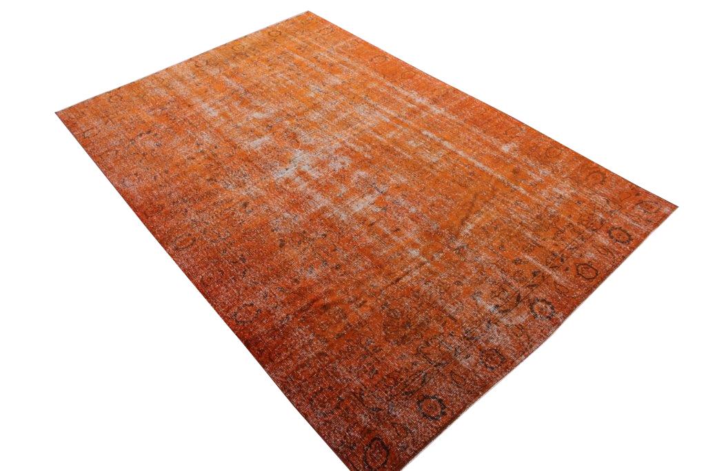Oranje vintage vloerkleed uit Turkije 290cm x 192cm , no 591