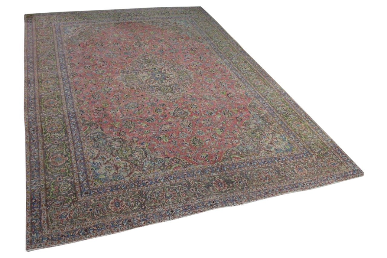 Afbeelding van Antiek perzisch vloerkleed 383cm x 286cm 80-90 jaar oud