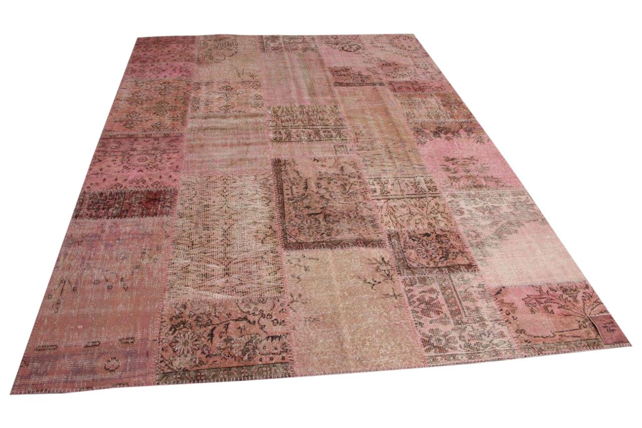 Oudroze patchwork vloerkleed 300cm x 215cm nr71358
