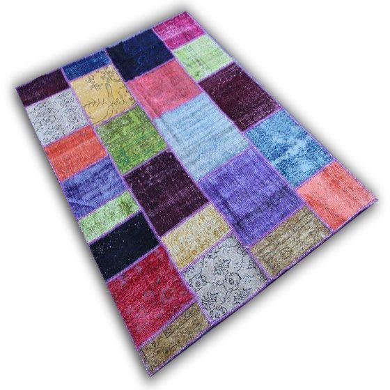 Multicolour patchwork 12D (242cm x 170cm)