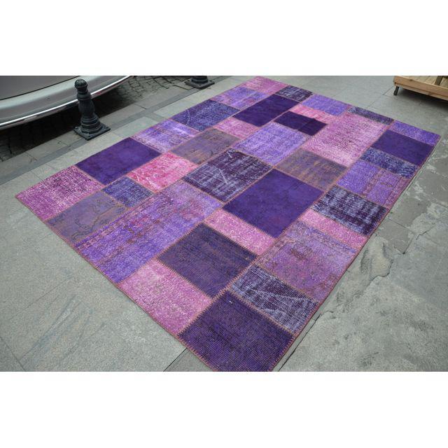 Paars patchwork vloerkleed 300cm x 200cm nr36755