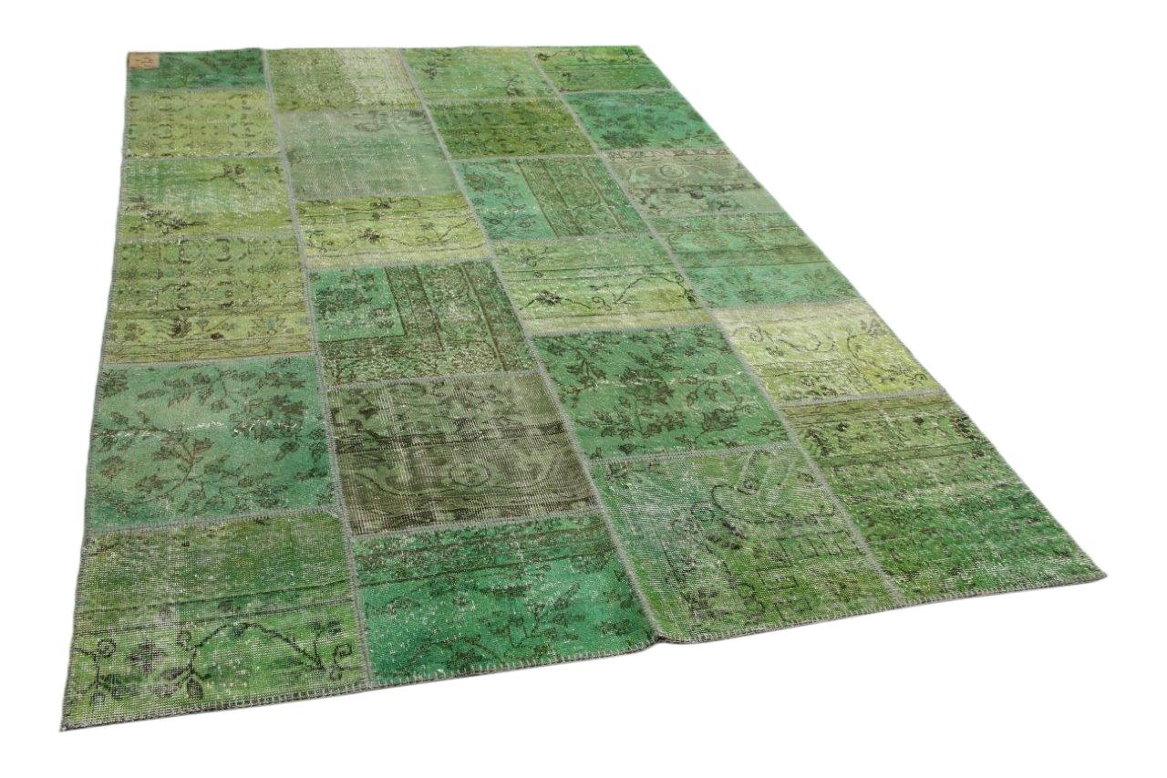 Patchwork vloerkleed groen 300cm x 200cm nr23235