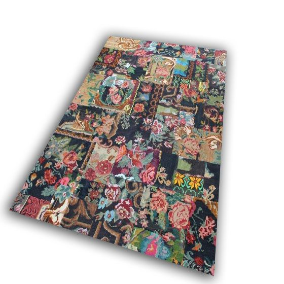 Kelim patchwork vloerkleed  23 ( 300cm x 210cm)