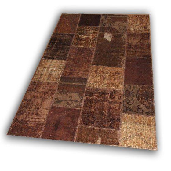 Bruin patchwork 563 (241cm x170cm)