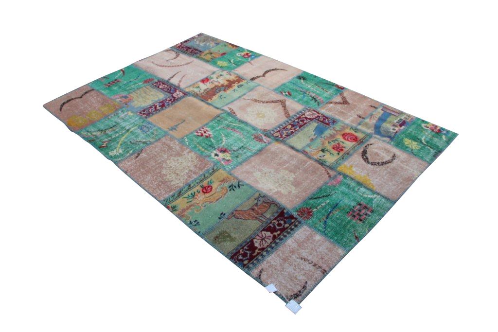 Vintage patchwork vloerkleed 801D (305cm x 204cm) VERKOCHT!