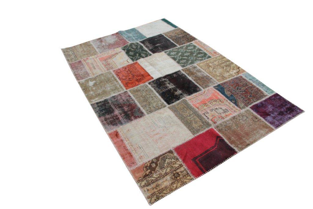 Patchwork recoloured vintage tapijt nr 1116D     (300cm x 195cm)