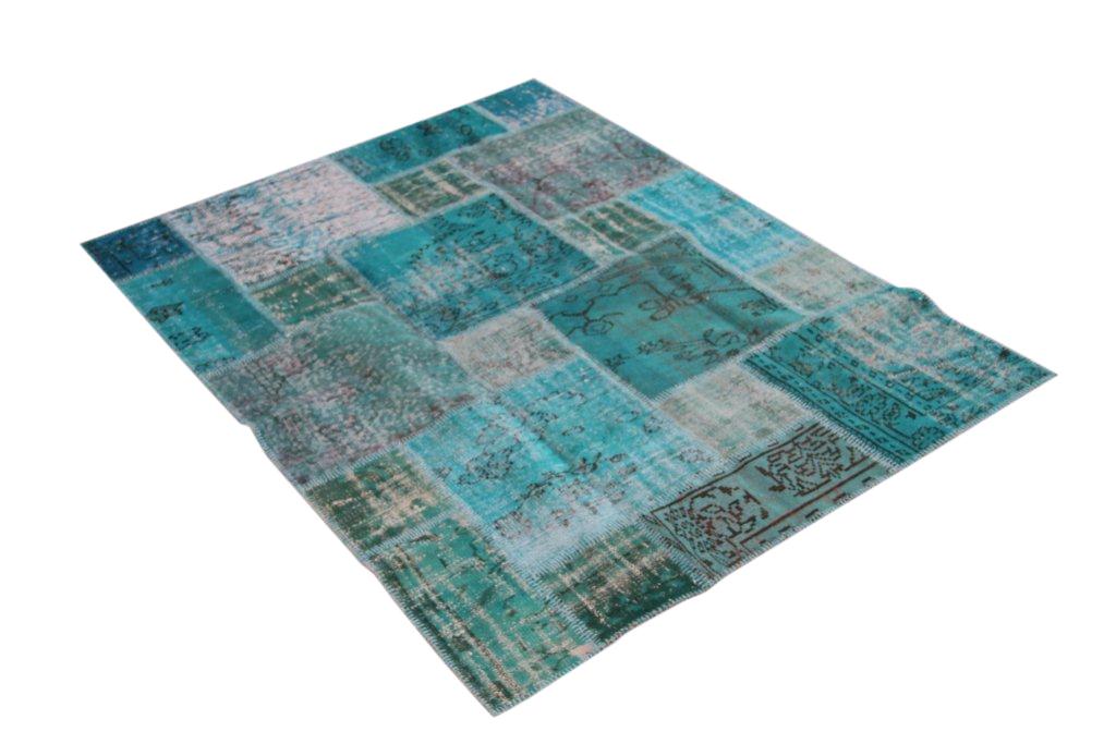 Aqua patchwork  Dit artikel is helaas uitverkocht