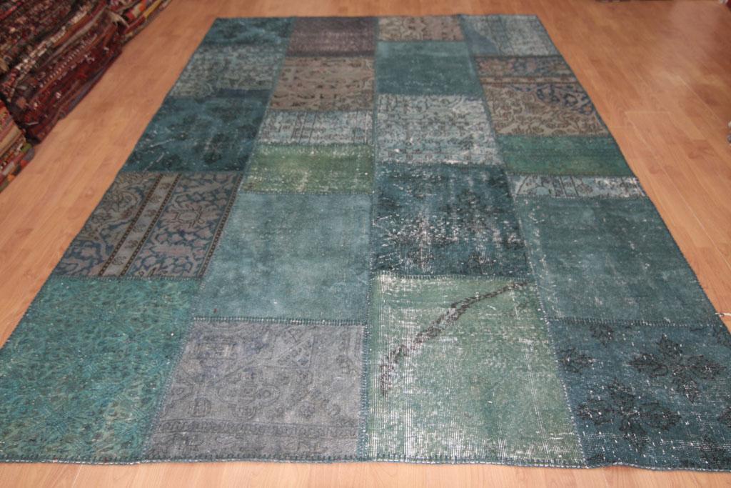 Aqua patchwork 596 (283cm x 200cm)