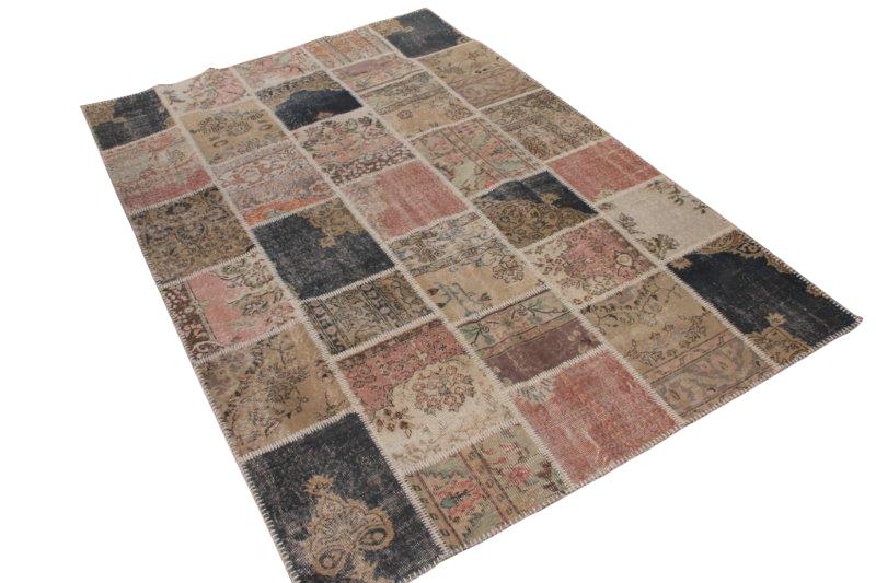Vintage patchwork vloerkleed 301cm x 200cm (nr7287)