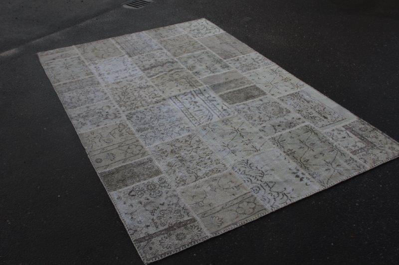 Vintage patchwork beige vloerkleed 300cm x 200cm (nr7276)