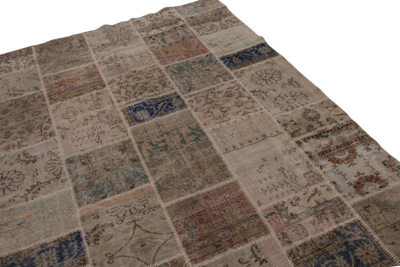 Vintage patchwork vloerkleed 300cm x 220cm (nr7476)