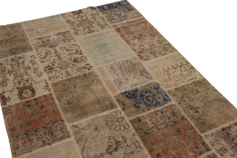 Vintage patchwork vloerkleed 240cm x 174cm (nr7479)