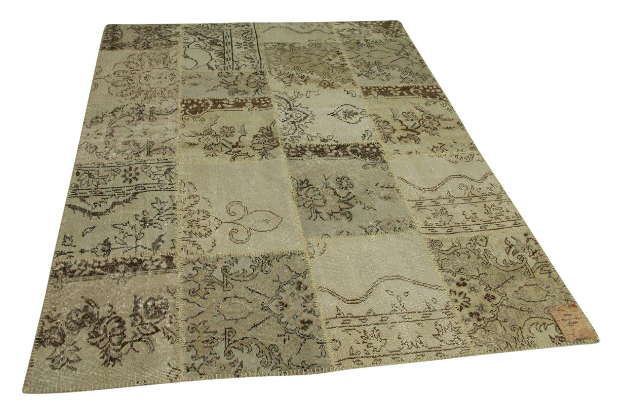 patchwork vloerkleed beige 241cm x 177cm nr4092