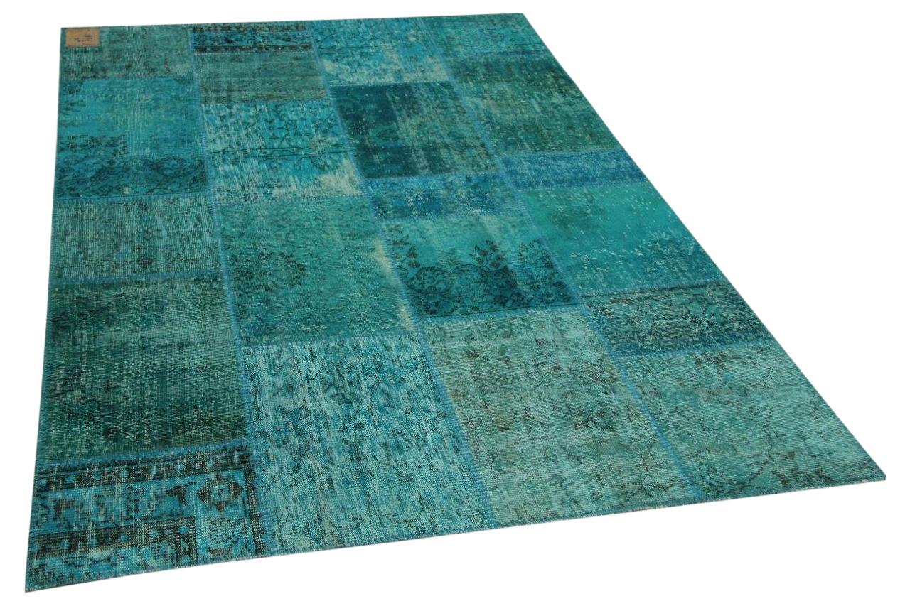 patchwork vloerkleed blauw 240cm x 170cm nr23218