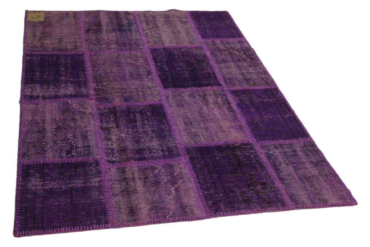 Patchwork vloerkleed paars 200cm x 145cm nr23229