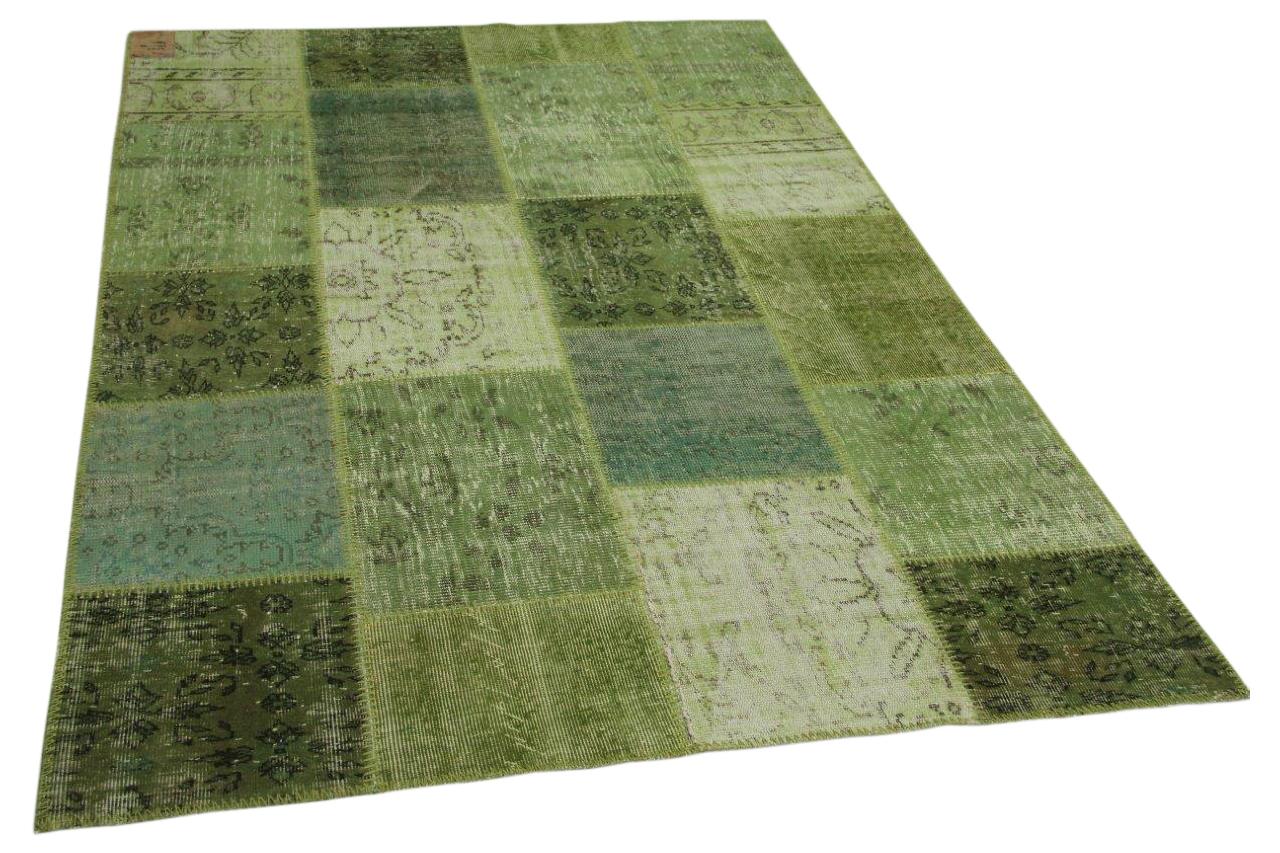 Patchwork vloerkleed groen 240cm x 170cm nr23212
