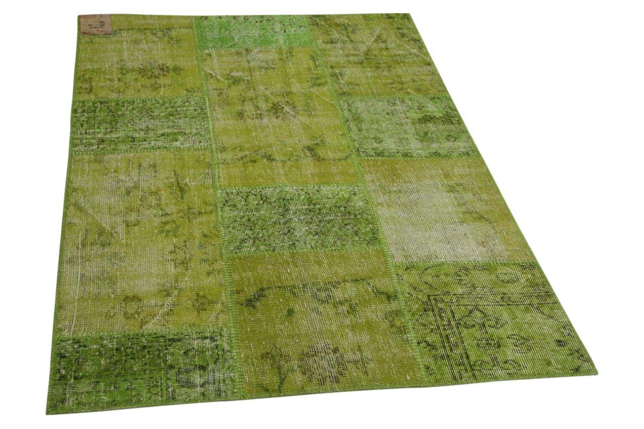 patchwork vloerkleed groen 180cm x 120cm nr23225
