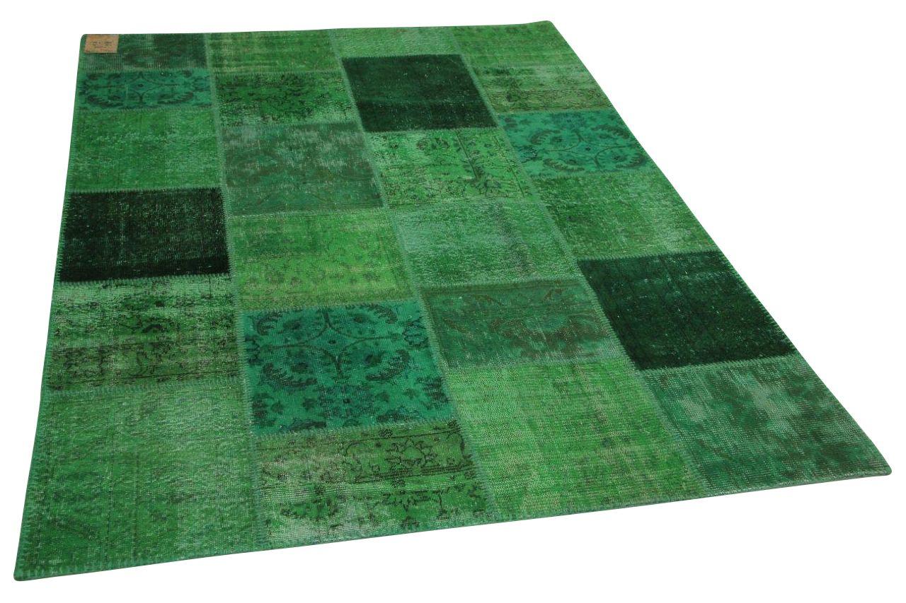 Patchwork vloerkleed groen 240cm x 170cm nr23226