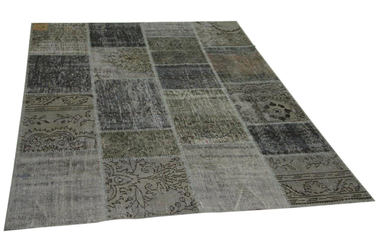 patchwork vloerkleed grijs 240cm x 170cm nr23315