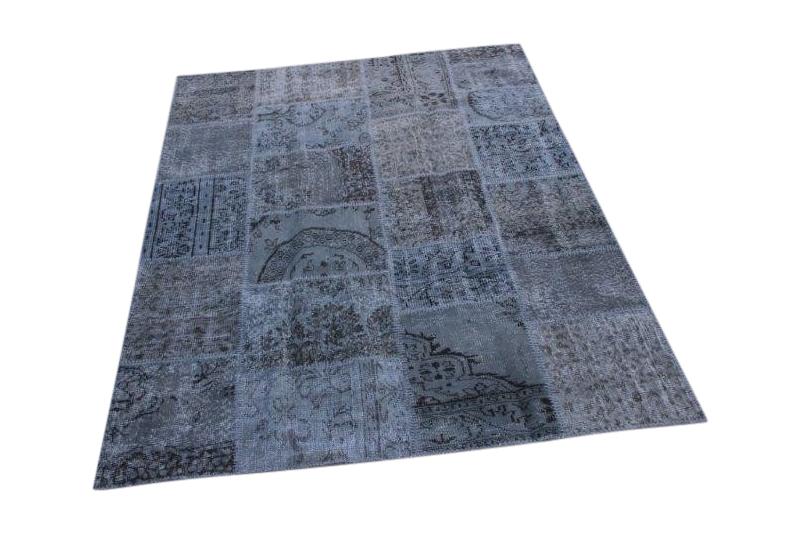 Patchwork vloerkleed, grijs, 239cm x 170cm