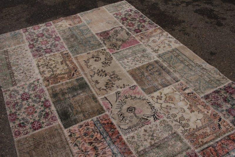 Vintage patchwork vloerkleed 313cm x 219cm (nr7008)