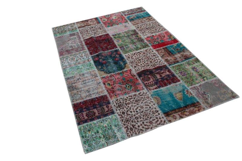 Vintage patchwork vloerkleed 252cm x 167cm (nr7262)