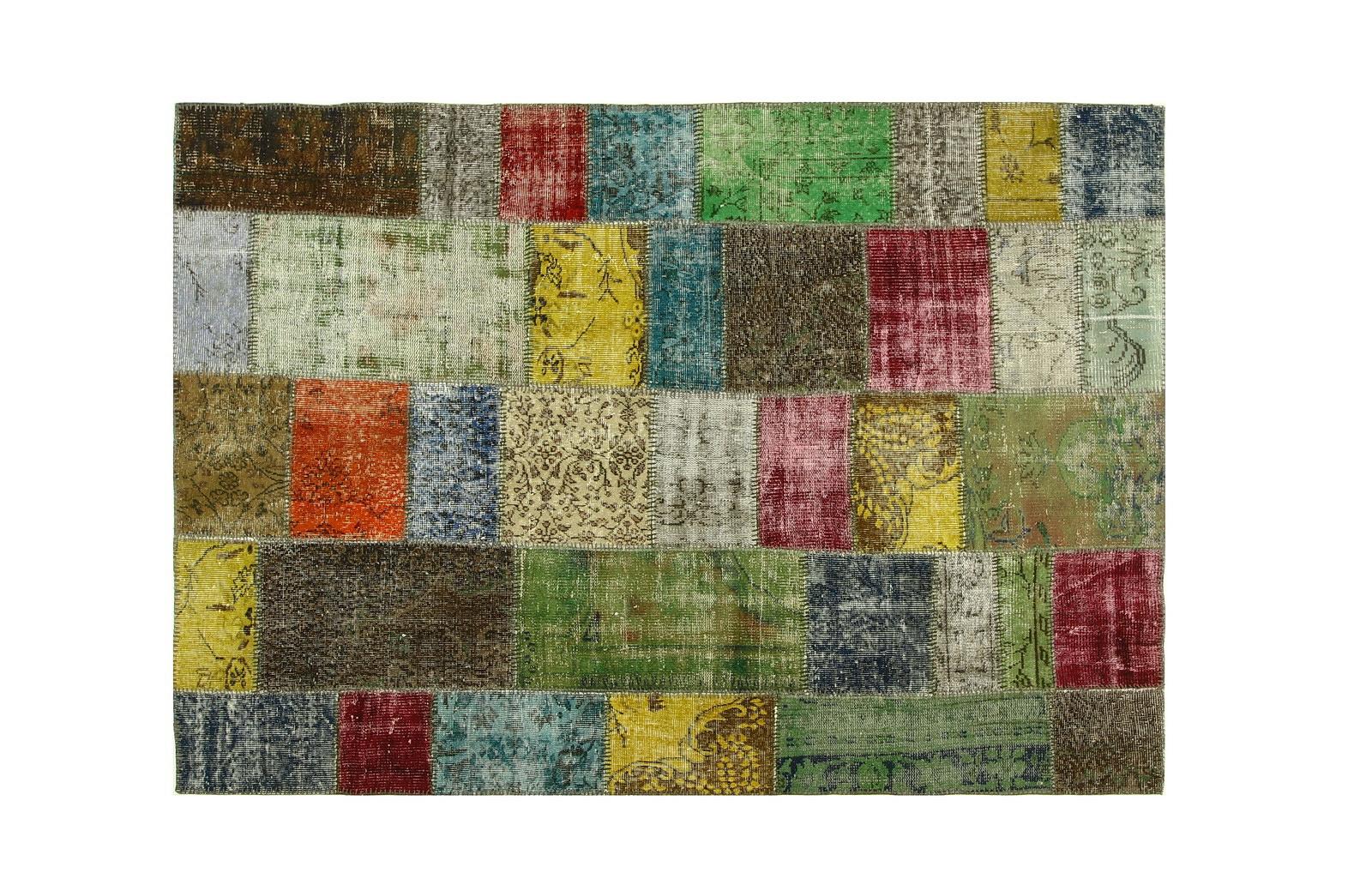 Vintage patchwork vloerkleed 240cm x 168cm (nr7479)   Dit vloerkleed verwachten wij rond 10 december binnen
