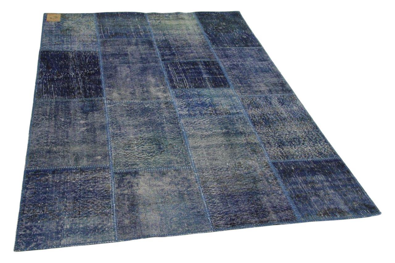 Patchwork vloerkleed blauw 240cm x 170cm nr23219