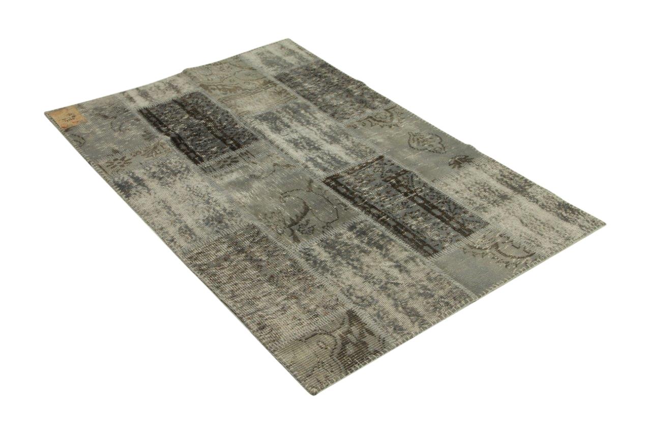 Patchwork vloerkleed grijs 180cm x 120cm nr99263