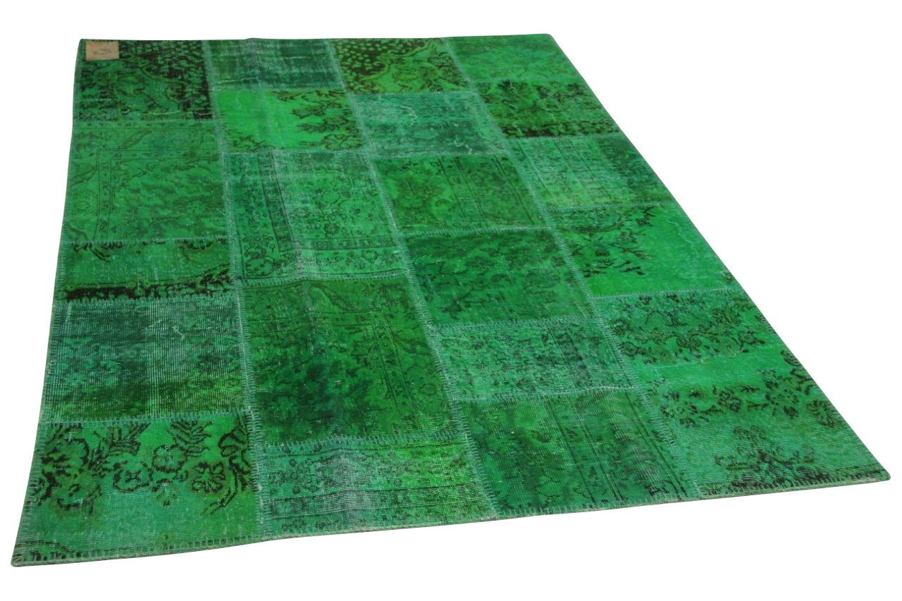 Patchwork vloerkleed groen 240cm x 170cm nr23233