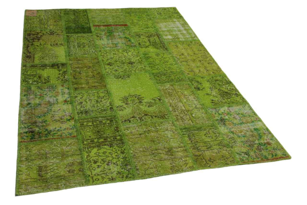Patchwork vloerkleed groen 241cm x 170cm nr23222